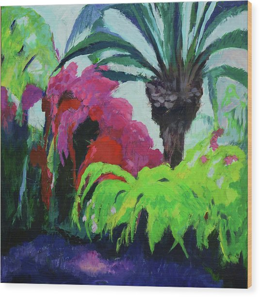 Shirley's Garden Wood Print