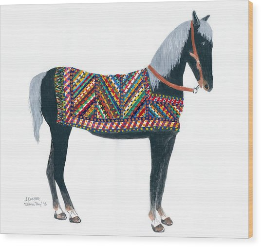 Shirvan Pony Wood Print