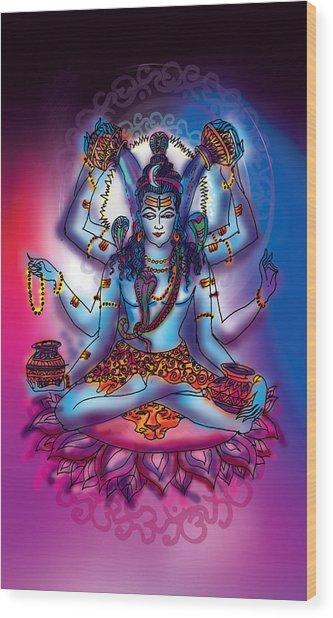 Shiva Abhishek  Wood Print