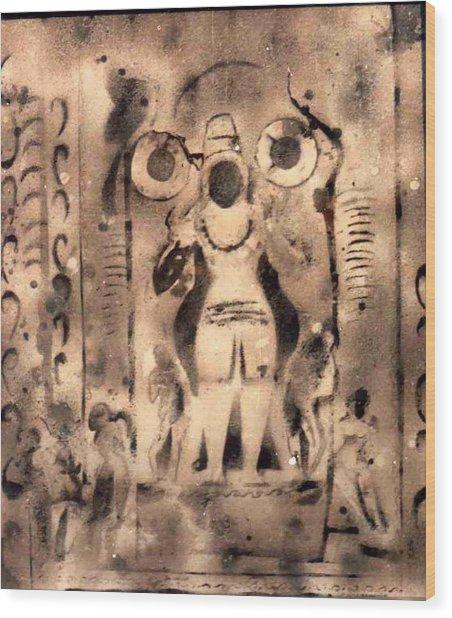 Shiva P3 Wood Print by Anand Swaroop Manchiraju