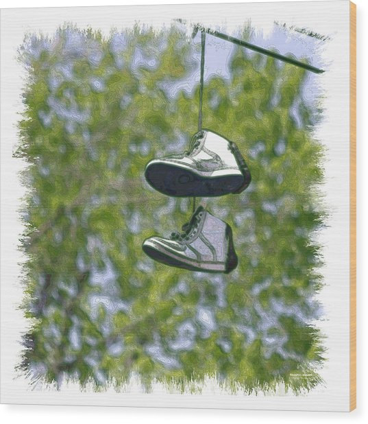 Shoefiti 23625 Wood Print