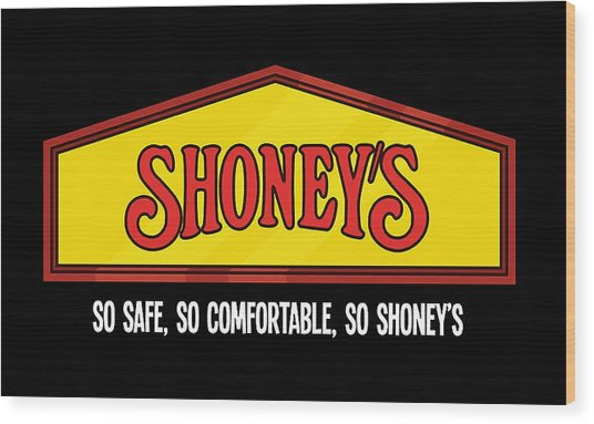 Shoney's Emblem Wood Print
