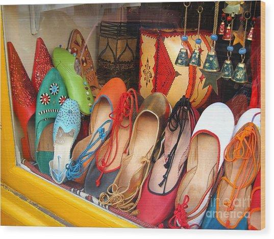 Shop On Rue Daubenton Wood Print