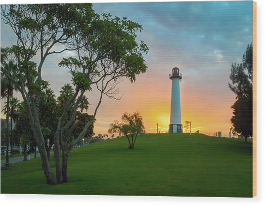 Shoreline Lighthouse Wood Print