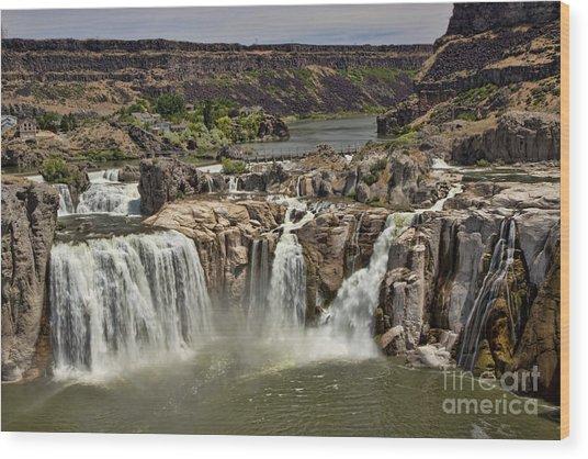 Shoshone Falls Wood Print