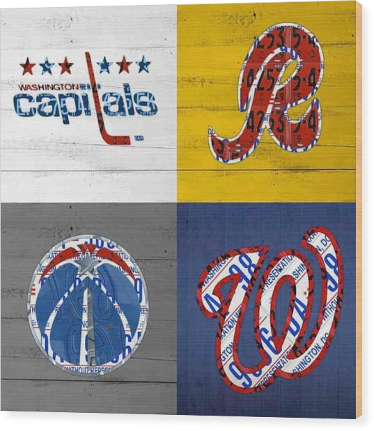 Shout To #washingtondc #capitals Wood Print
