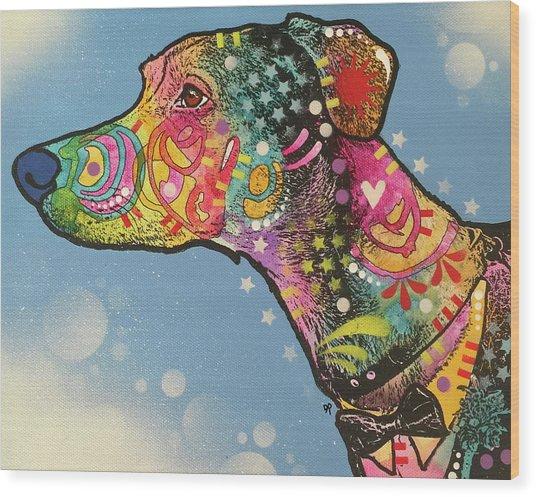 Show Dog Wood Print