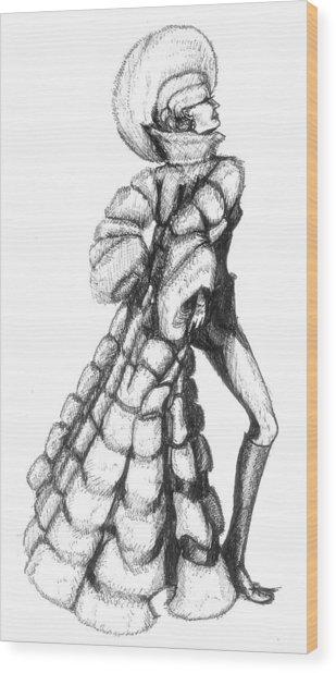 Showgirl Wood Print by Yvonne Ayoub