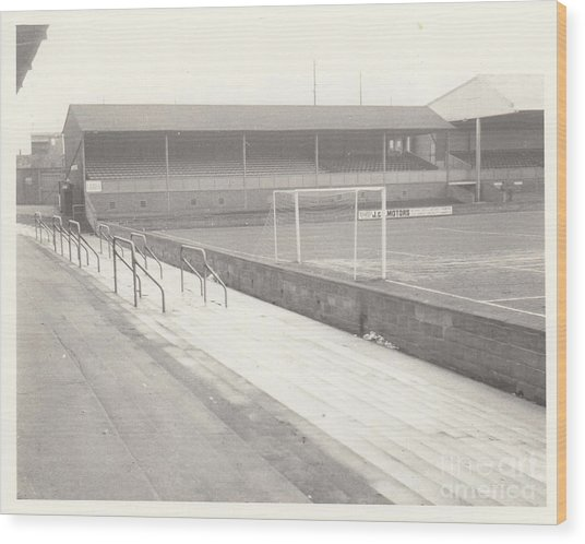 Shrewsbury Town - Gay Meadow - East Stand 1 - March 1970 Wood Print
