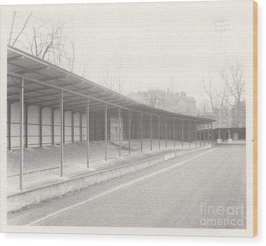Shrewsbury Town - Gay Meadow - Riverside Terrace West Stand 1 - March 1970 Wood Print