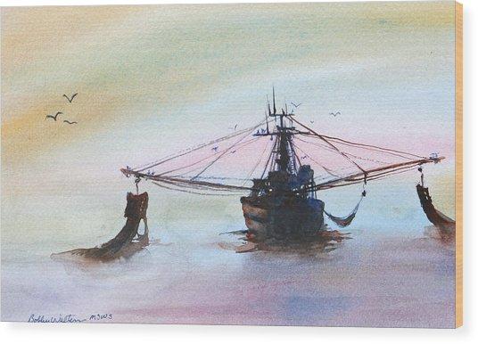 Shrimp Trawler Wood Print