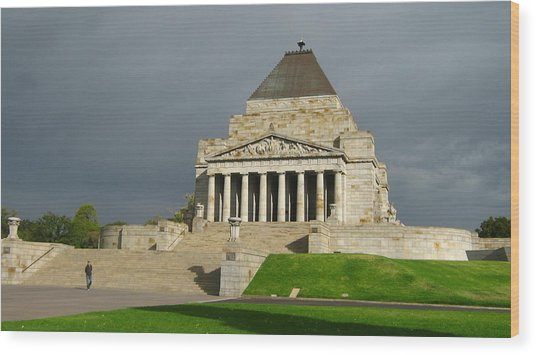 Shrine Of Remembrance Wood Print