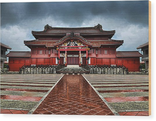 Wood Print featuring the photograph Shuri Castle by Ryan Wyckoff