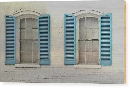 Shutter Blue Wood Print by JAMART Photography