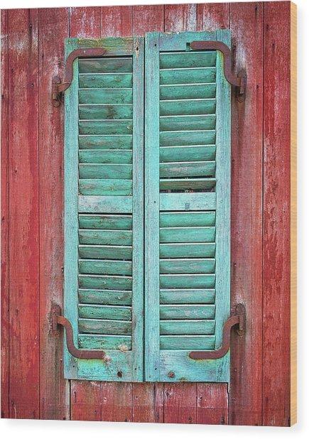 Old Barn Window - Shuttered Wood Print