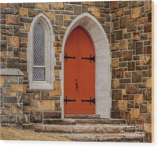 Side Door Wood Print