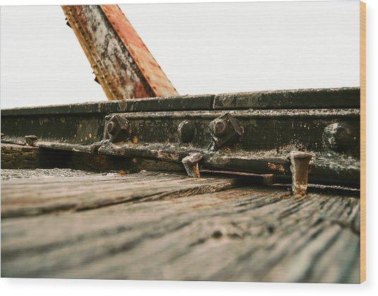 Side Of Rail #photography #trains Wood Print