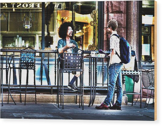 048 - Sidewalk Cafe Wood Print