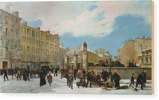Siege Of Paris Wood Print
