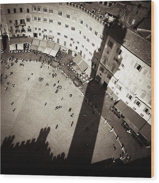 Siena From Above Wood Print