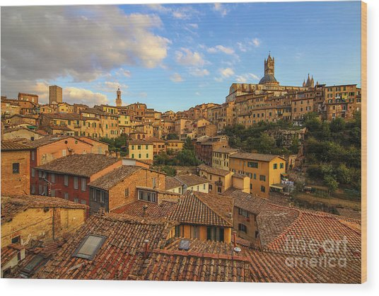 Siena Sunset Wood Print