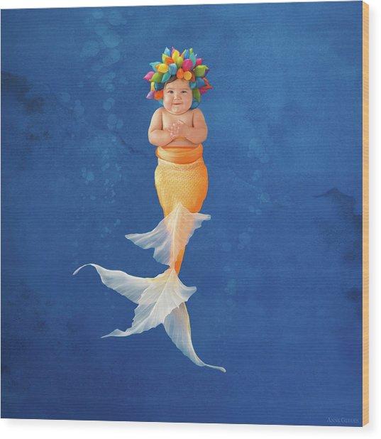 Sienna As A Mermaid Wood Print