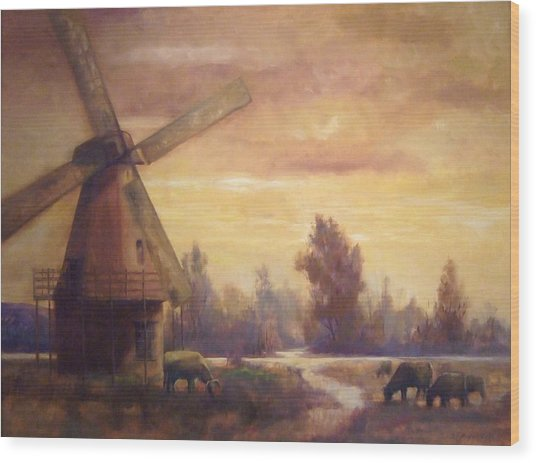 Sienna Mill Wood Print by Ruth Stromswold