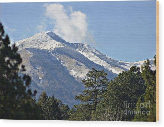 Sierra Blanca Clouds 4 Wood Print