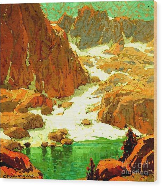Sierra Landscape Circa 1920 Wood Print