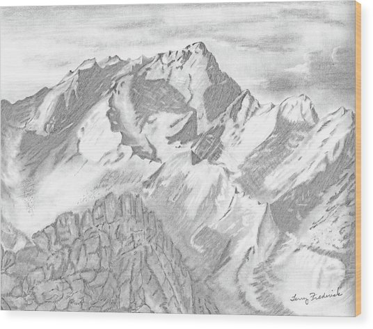 Sierra Mt's Wood Print