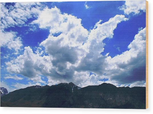 Sierra Nevada Cloudscape Wood Print