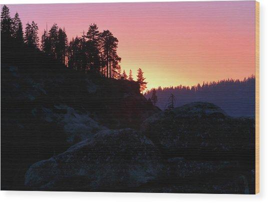 Sierra Nevada Dusk Wood Print