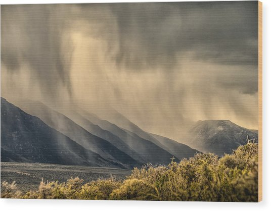 Sierra Storm From Panum Crater Wood Print