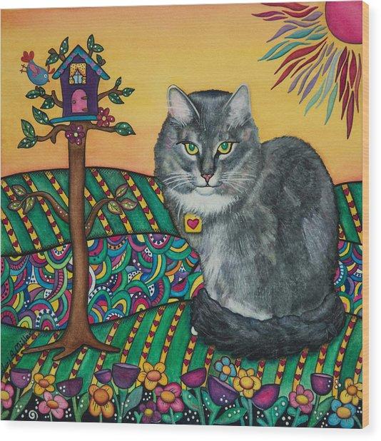 Sierra The Beloved Cat Wood Print