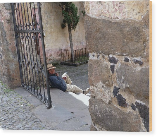 Siesta In Patzcuaro Wood Print