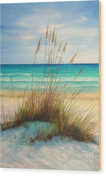 Siesta Key Beach Dunes  Wood Print