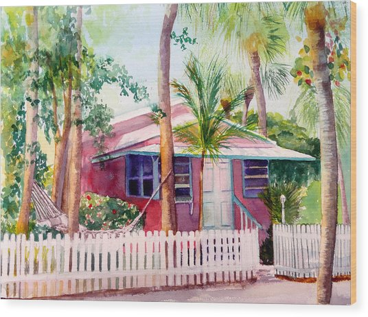 Siesta Key Cottage Wood Print