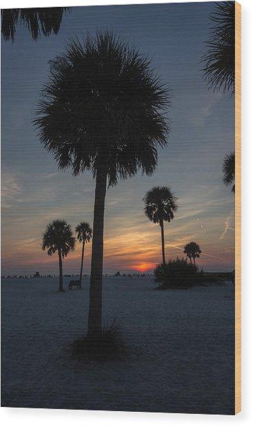 Siesta Sillhouette Wood Print