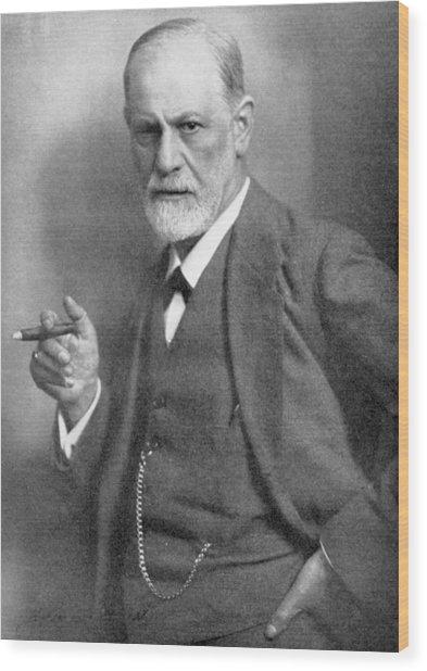 Sigmund Freud Wood Print