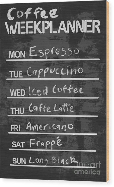 Sign Of A Coffee Lover Wood Print