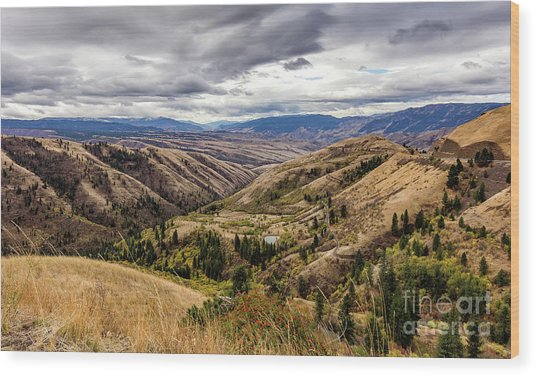 Silence Of Whitebird Canyon Idaho Journey Landscape Photography By Kaylyn Franks  Wood Print