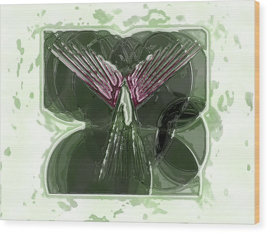 Silent Angel Wood Print by Patrick Guidato