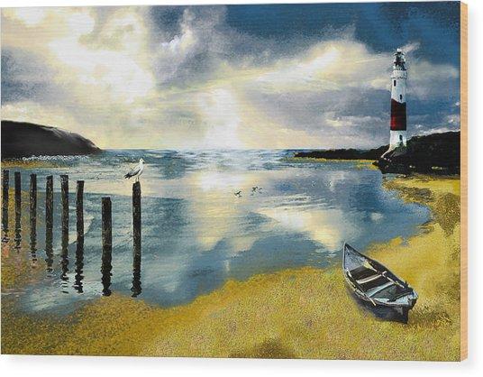 Silent Ocean Wood Print by Anne Weirich