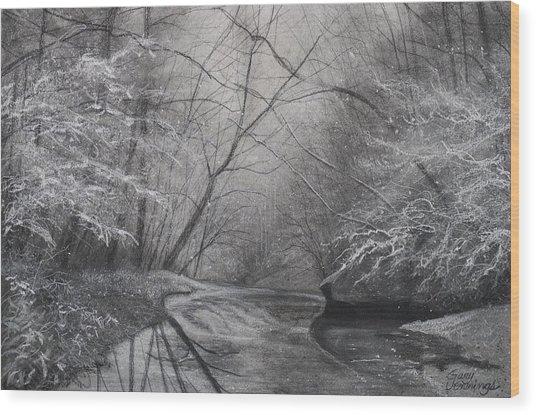 Silent Running Wood Print
