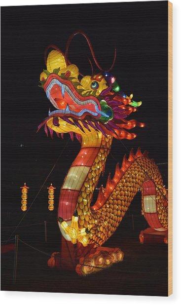 Silk Dragon Wood Print