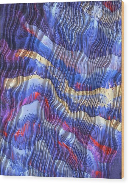 Silky Dreams Wood Print by Susan  Epps Oliver
