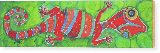 Silky Gecko Wood Print by Kelly     ZumBerge