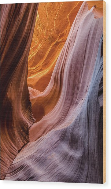 Silky Rocks 2 Wood Print