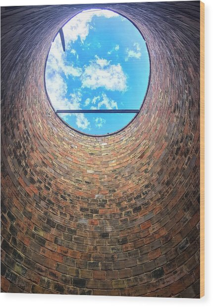 Silo Look Up Wood Print by Rand
