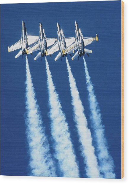 Silver Angels Wood Print by Melanie Beasley